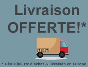 Livraison Offerte dès 100€ ttc d'achat pour une livraison en Europe